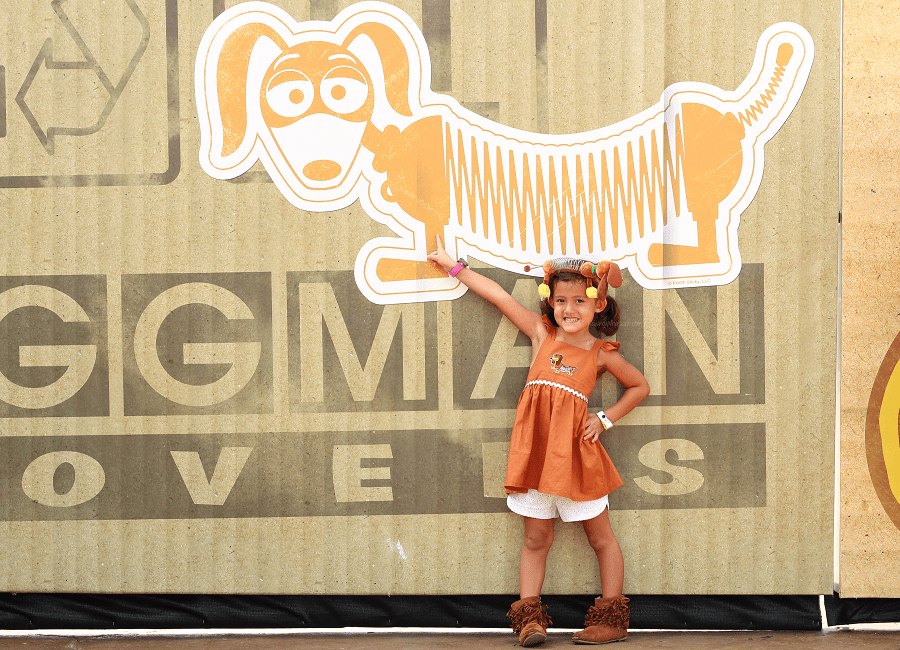 Easy slinky dog dress DIY