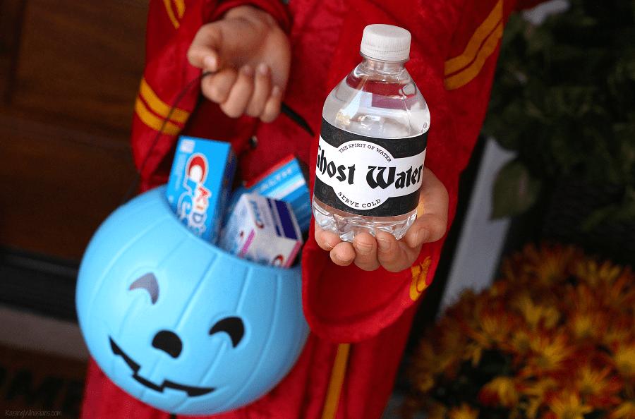 Free Halloween water bottle labels printable