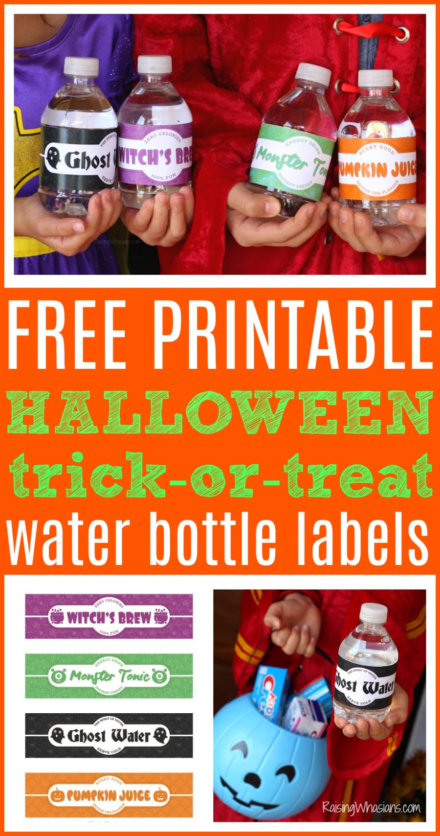 Free trick-or-treat labels