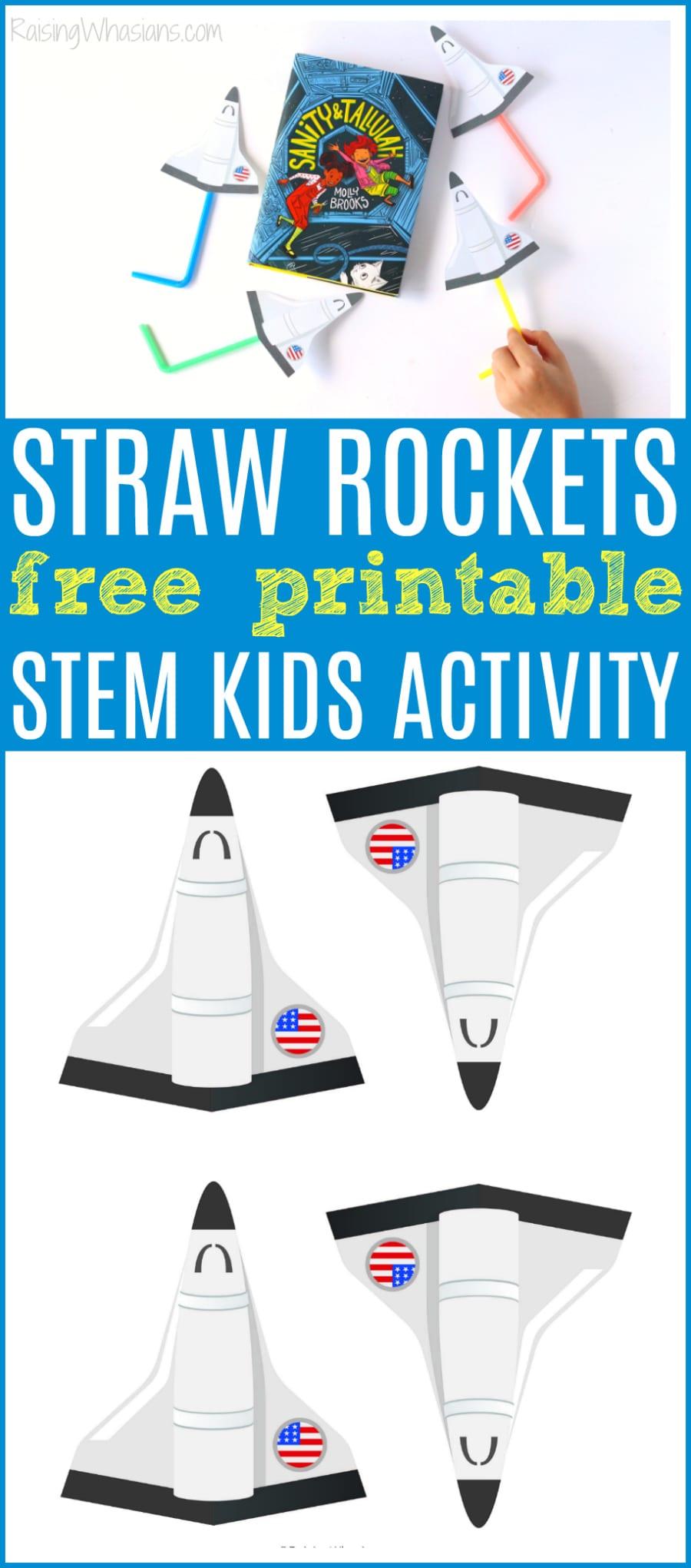 Straw rockets free printable