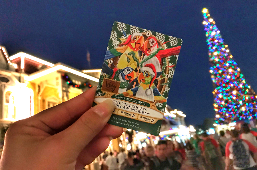 2018 very merry sorcerers of the magic kingdom card