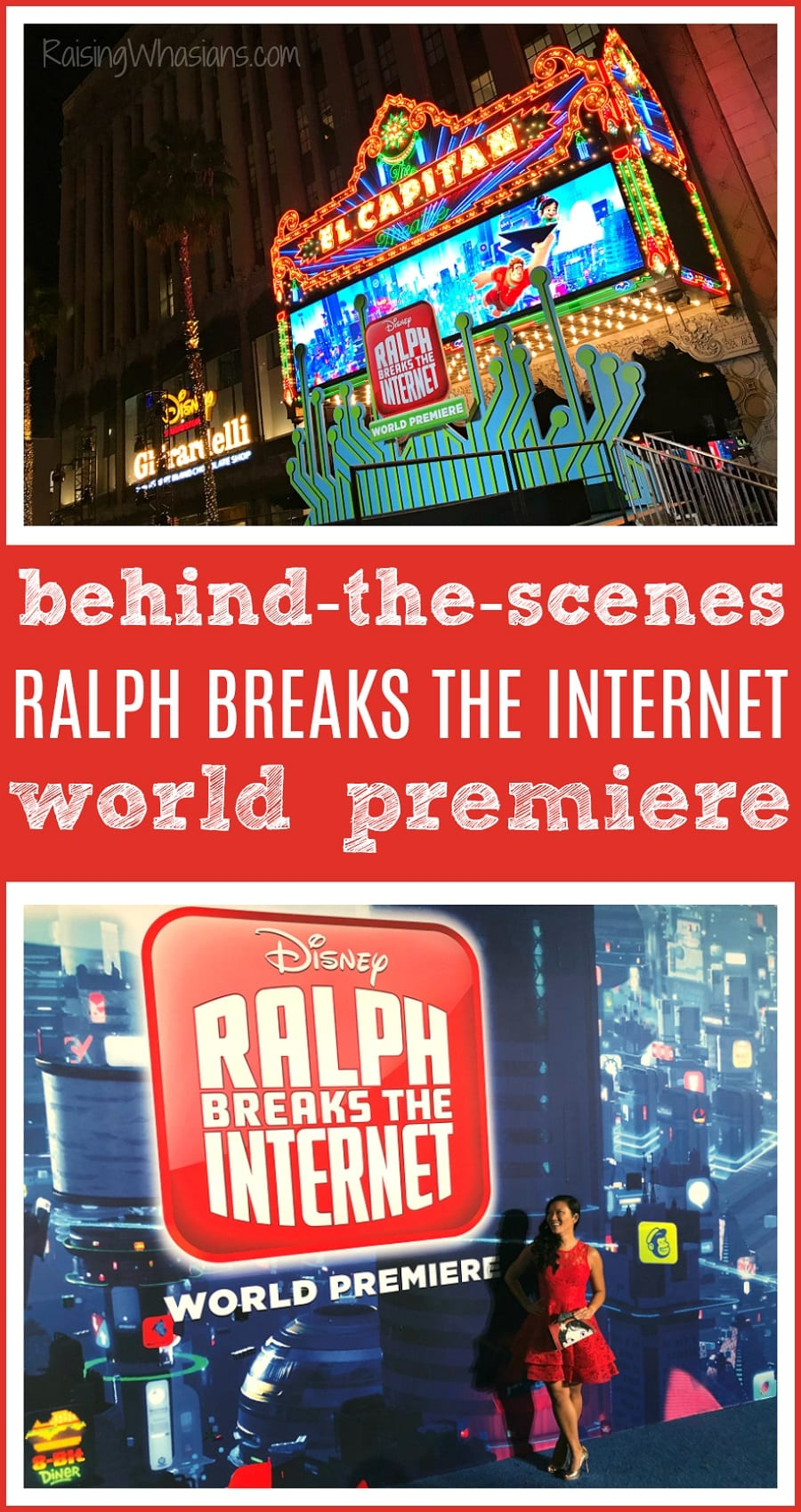 Behind the scenes Ralph breaks the internet world premiere