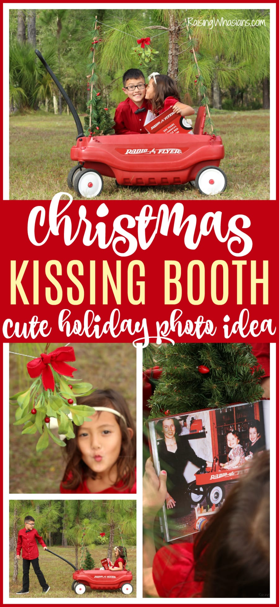 Cute kid Christmas photo shoot idea