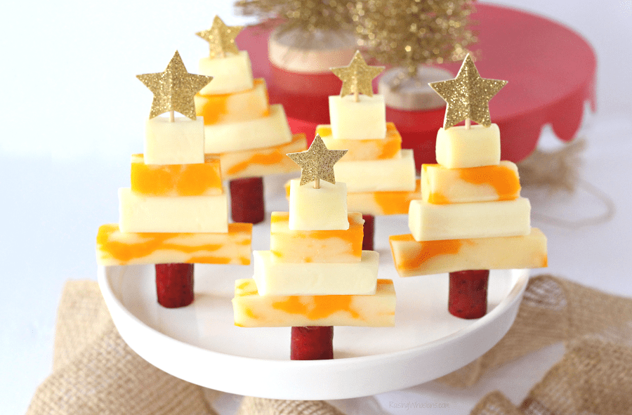 Easy Christmas Tree Snack Idea For Kids With Snack Cheese Raising
