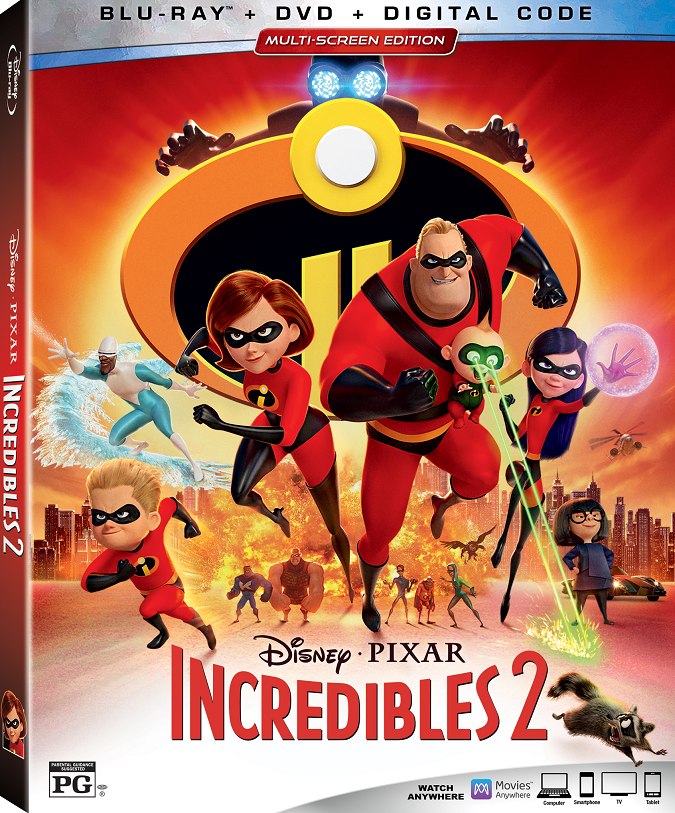 Incredibles 2 blu-ray bonus features