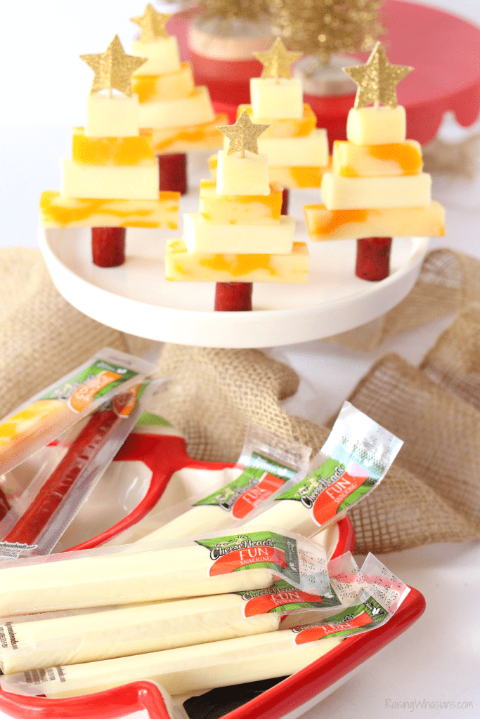 String cheese Christmas snack idea