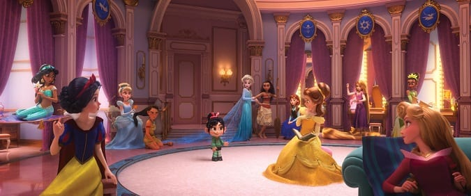 Ralph breaks the internet Disney princess scene