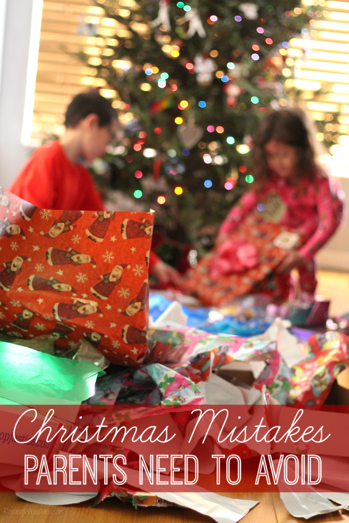Christmas mistakes parents should avoid