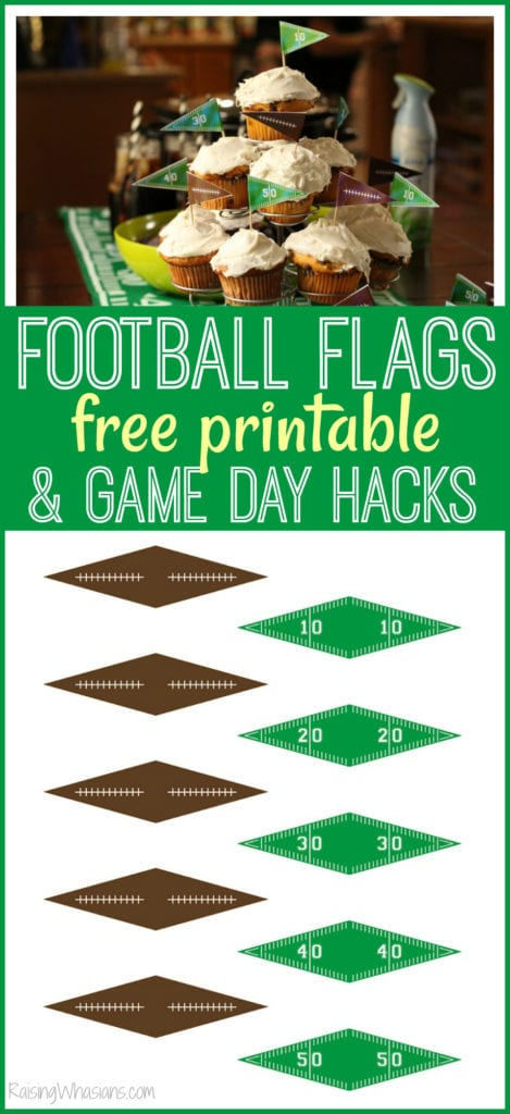 Football flags free printable