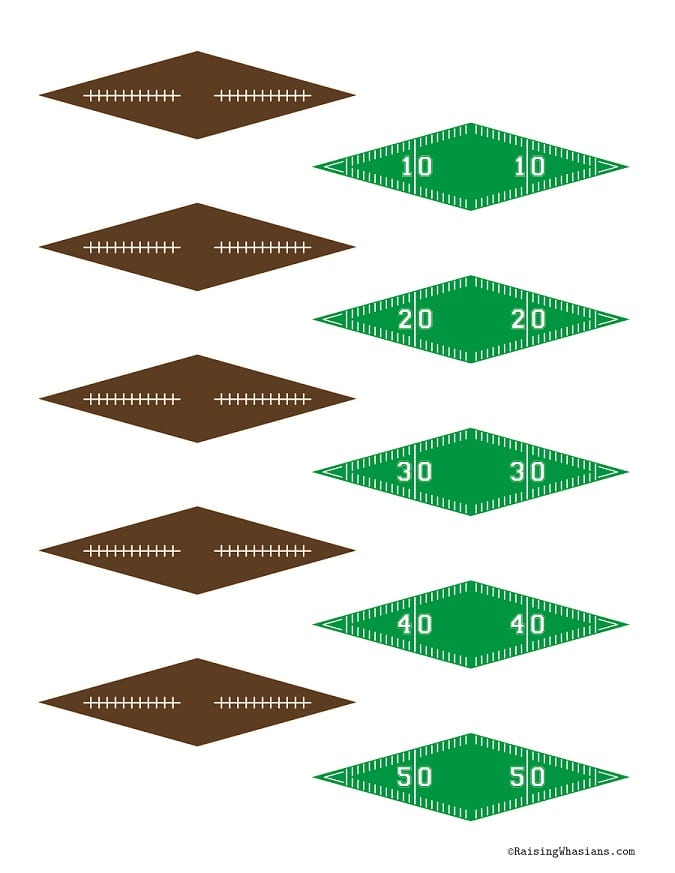 Free printable football toothpick flags