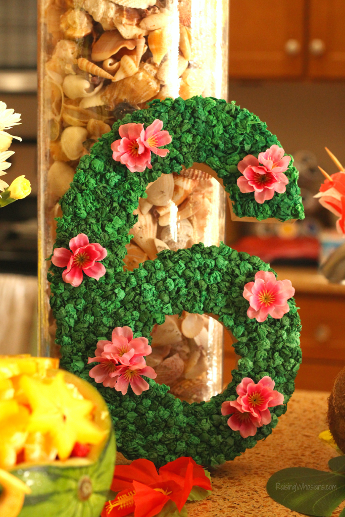 Moana birthday number diy