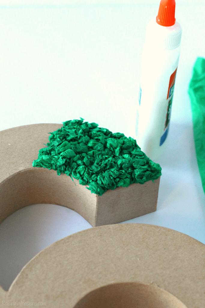 Tissue paper letter tutorial