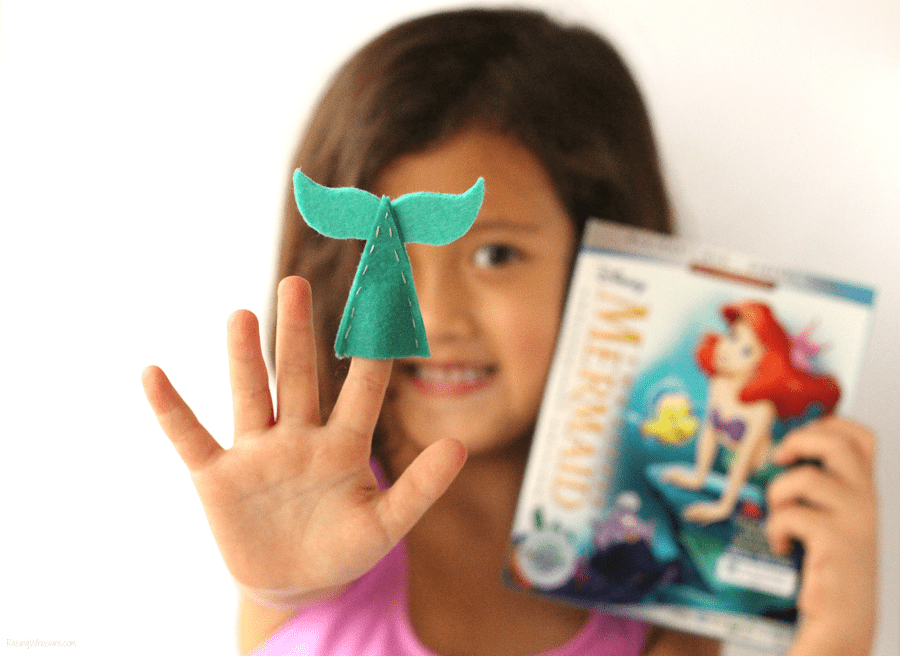 DIY mermaid tail finger puppets