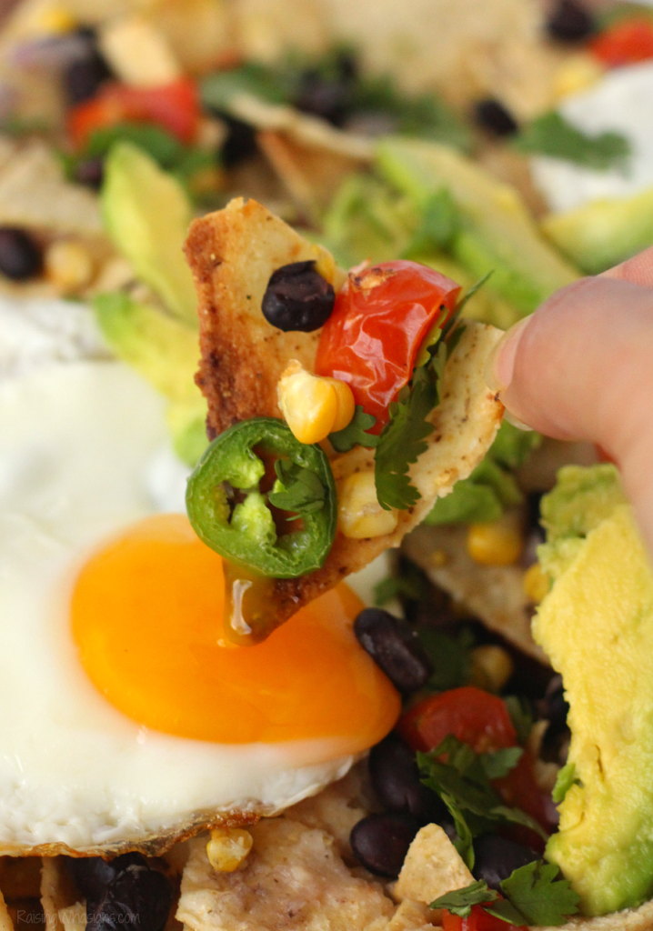 Easy breakfast nachos