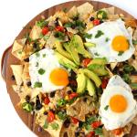 Loaded brunch nachos