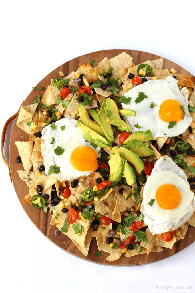 Loaded brunch nachos