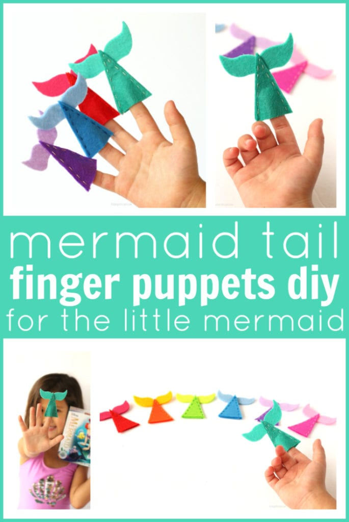 Mermaid tail finger puppets