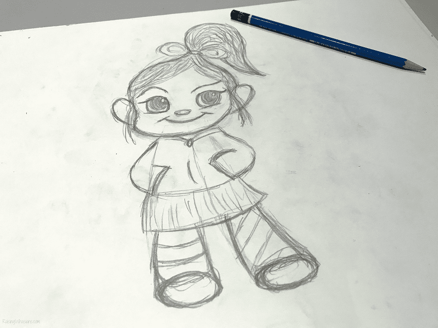 Vanellope drawing lesson