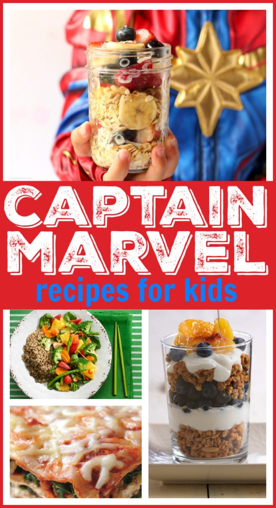 Captain marvel kids recipes