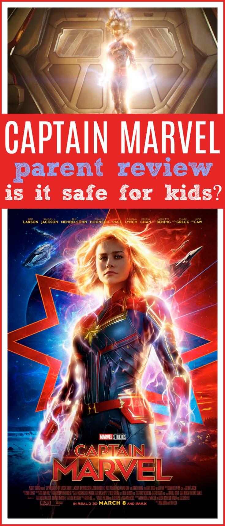 Captain marvel movie review parents