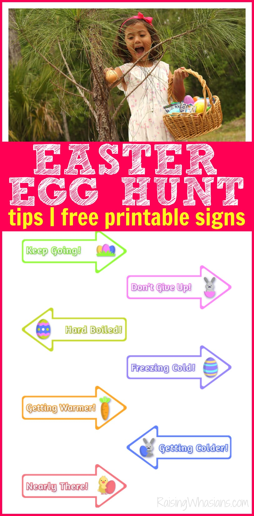 Easter egg hunt printable signs