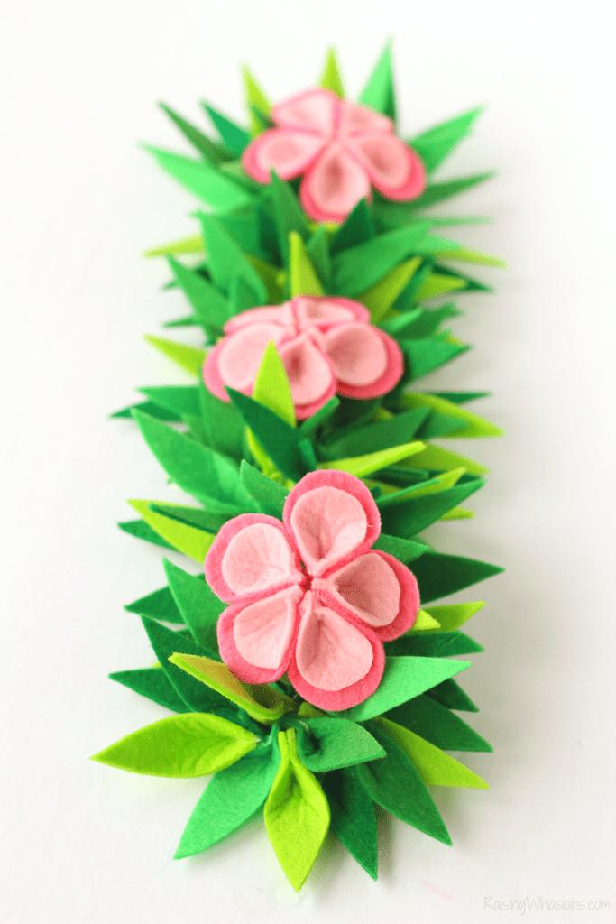 DIY Moana flower crown