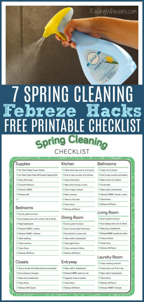 Spring cleaning free checklist