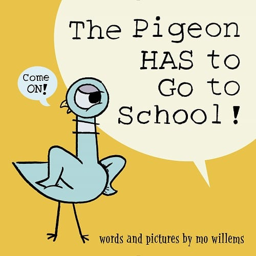The pigeon has to go to school book release date