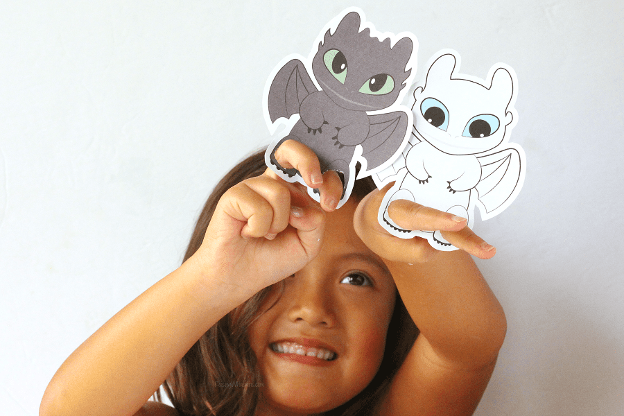 Free printable dragon finger puppets