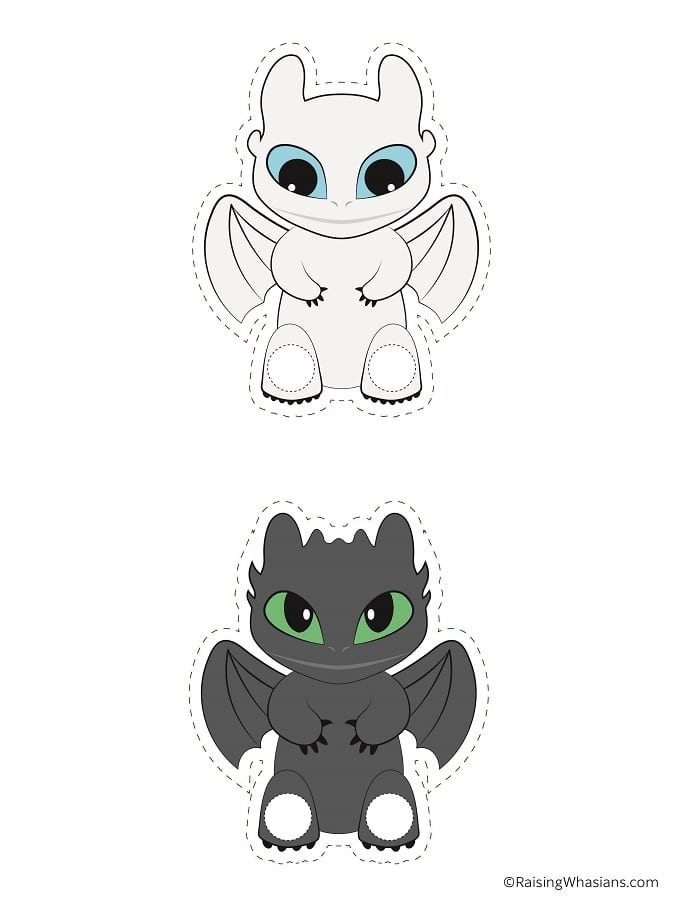 Free printable how to train your dragon puppets