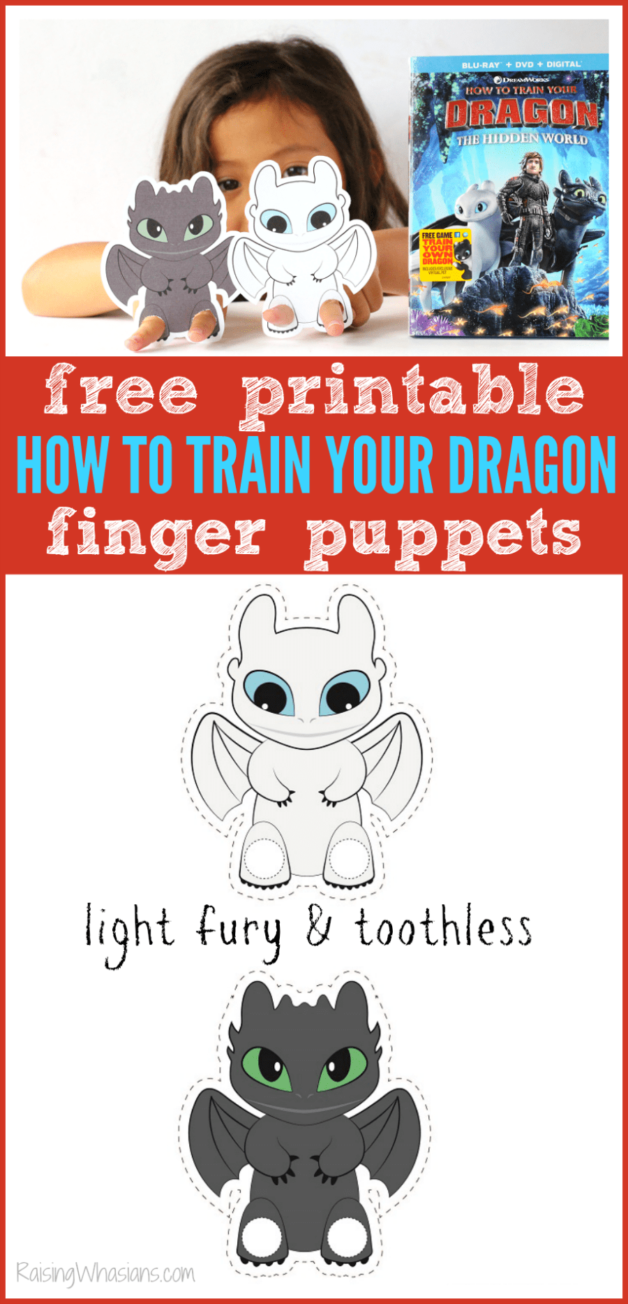 How to train your dragon craft for kids