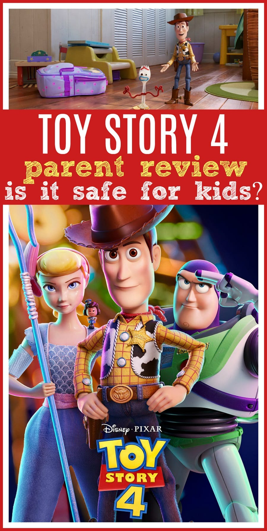 Toy story 4 review for kids