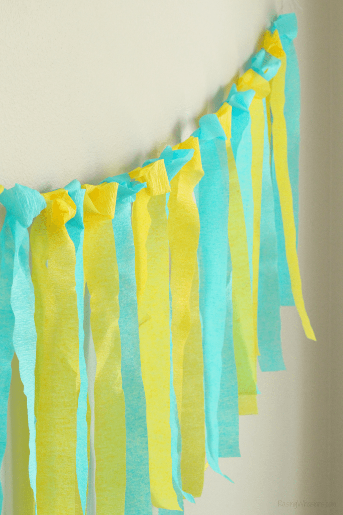 Easy crepe paper banner