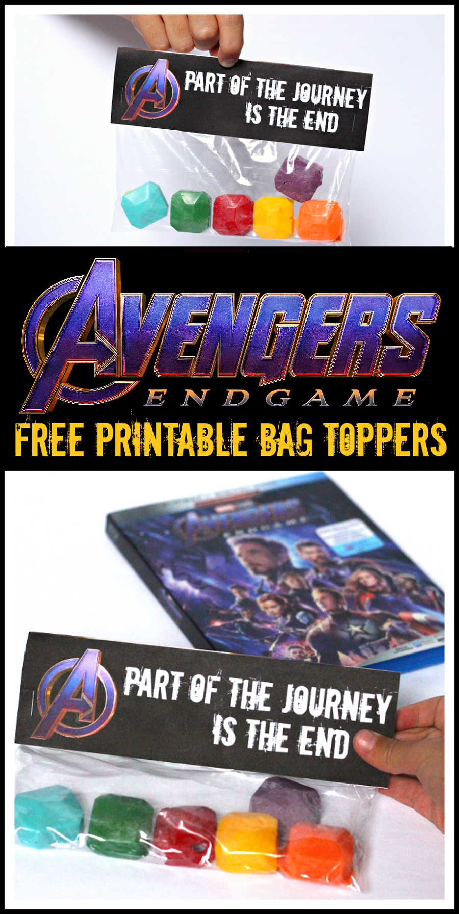 Free avengers endgame party bag topper