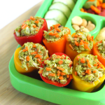 No mayo chicken salad stuffed peppers