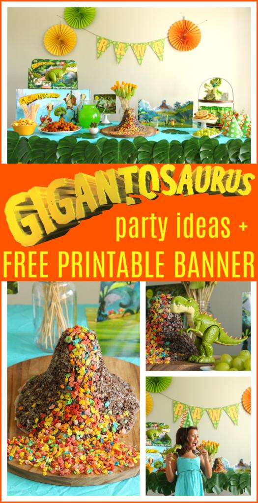 Gigantosaurus birthday party