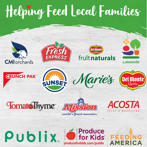 2019 produce for kids Publix sponsors