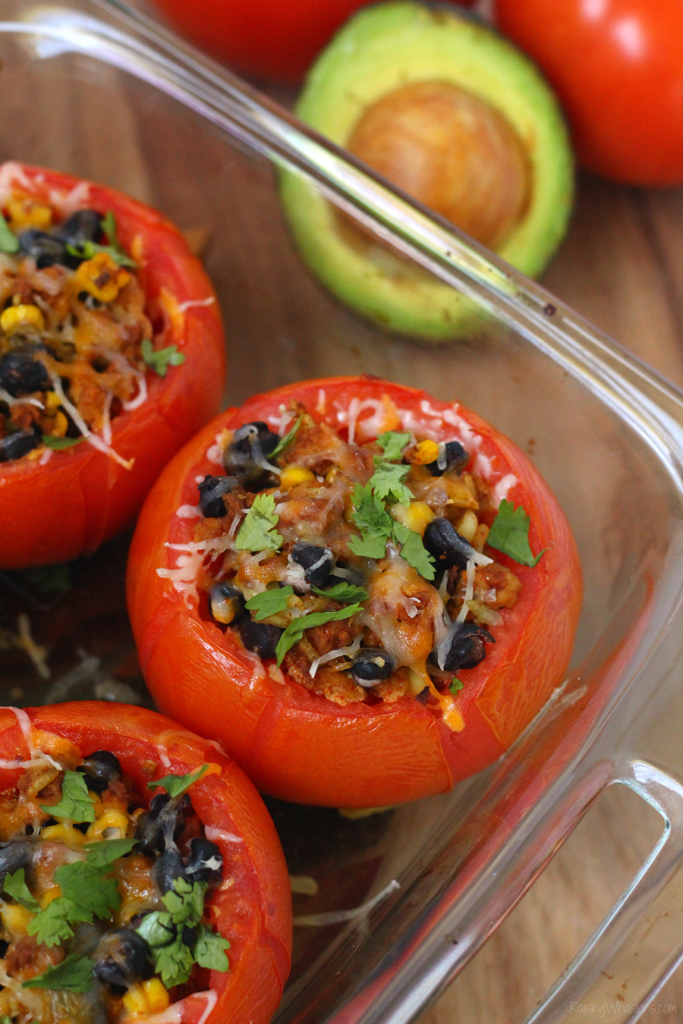 Taco stuffed tomato recipe