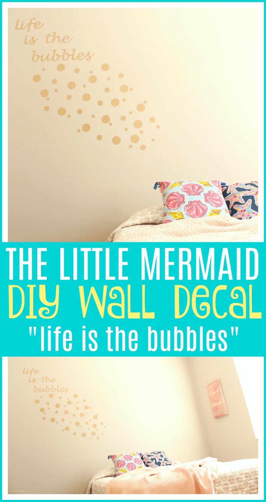 DIY little mermaid room decor
