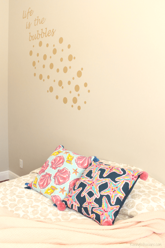 Little mermaid wall quote diy