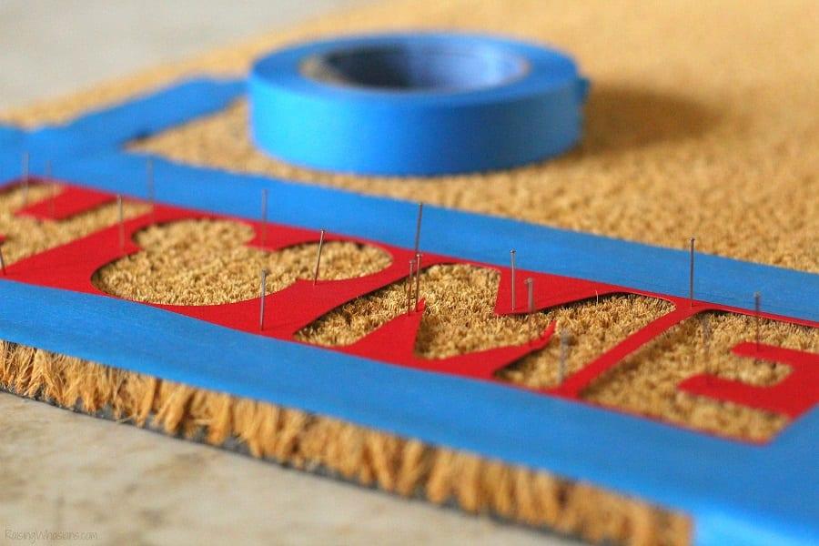 DIY stencil doormat