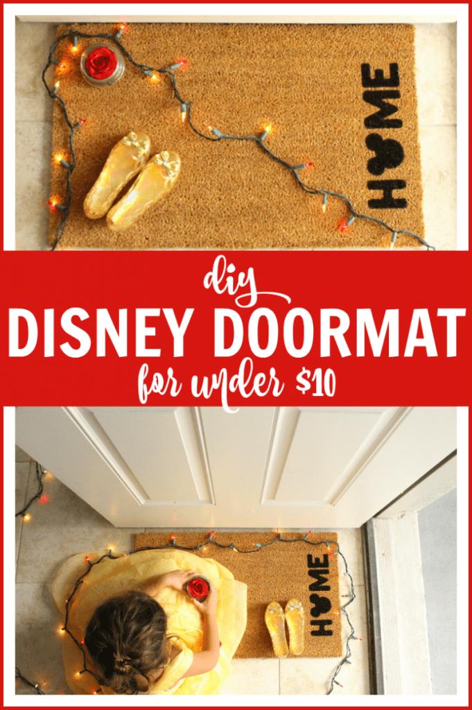 Disney door mat diy