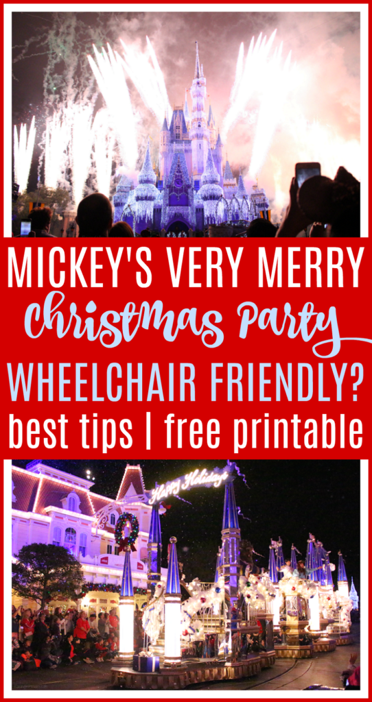 Is Mickey's very merry Christmas party wheelchair friendly