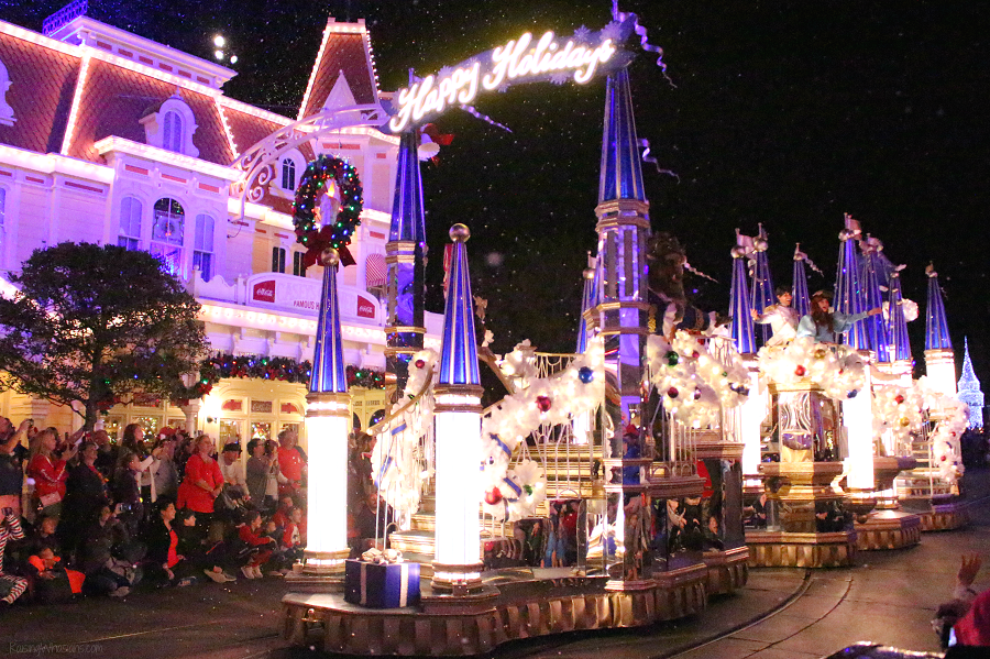 Very merry parade for wheelchairs