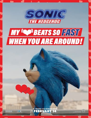 Free sonic valentine cards