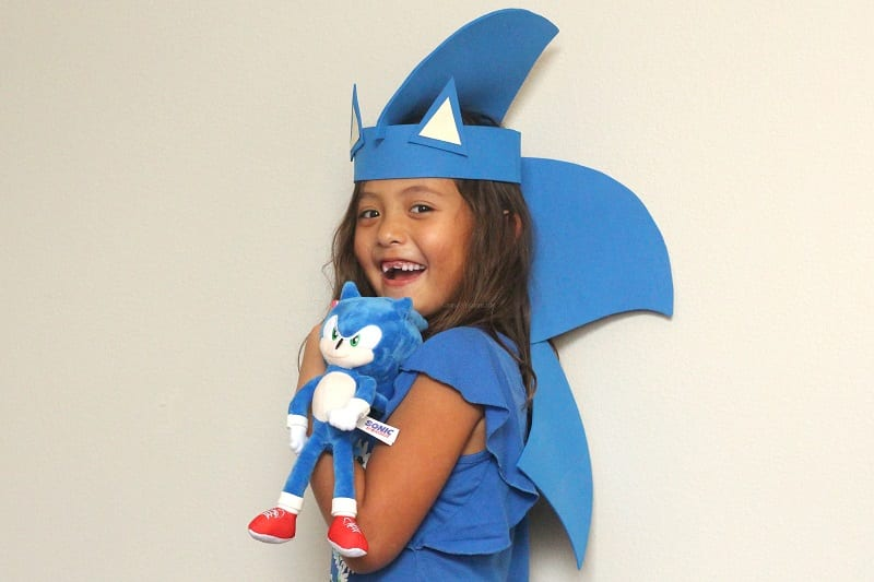 Sonic movie kids craft