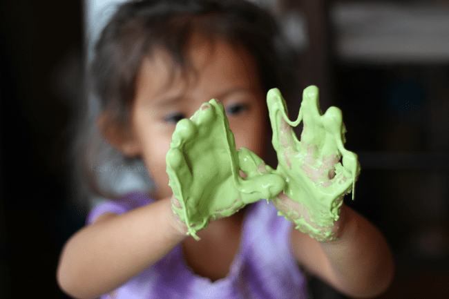 Edible slime for toddlers