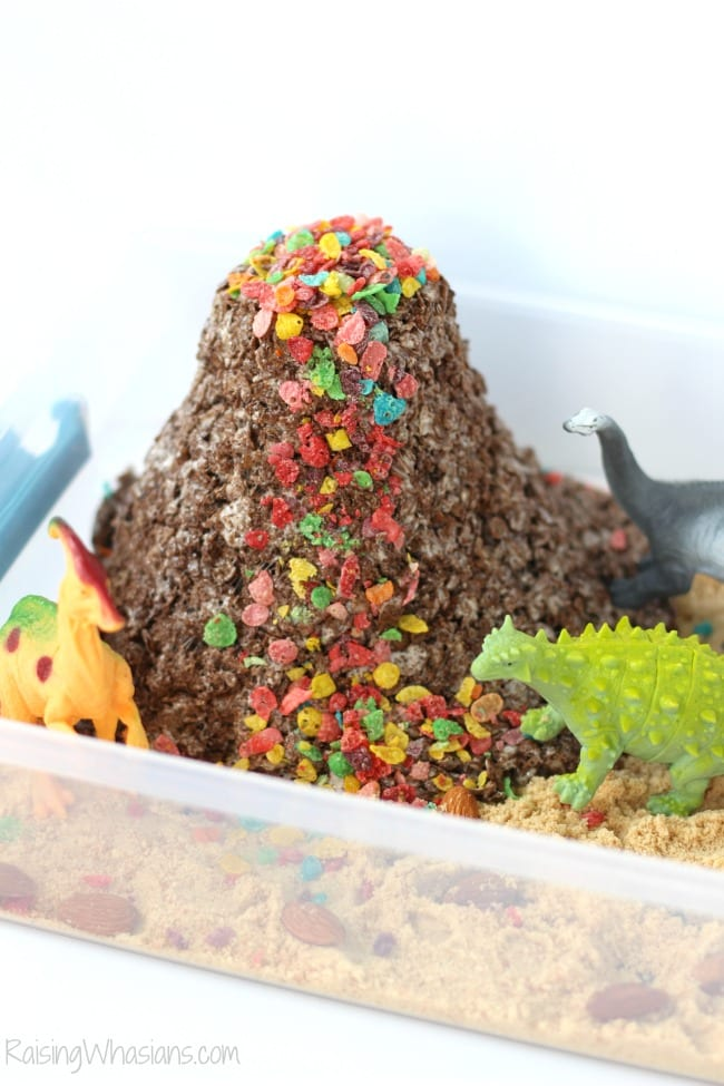 Edible volcano kids activity