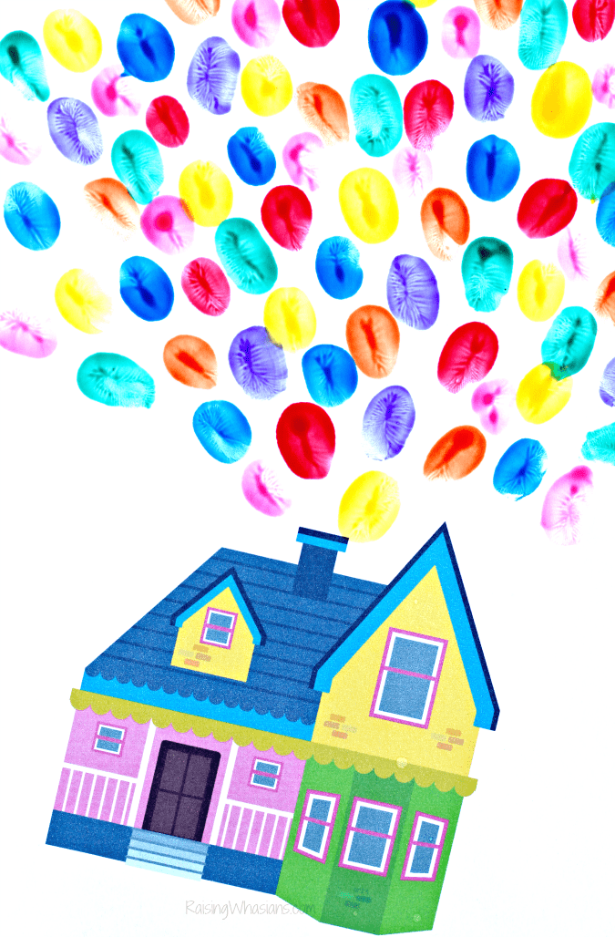 Free Pixar up printable house