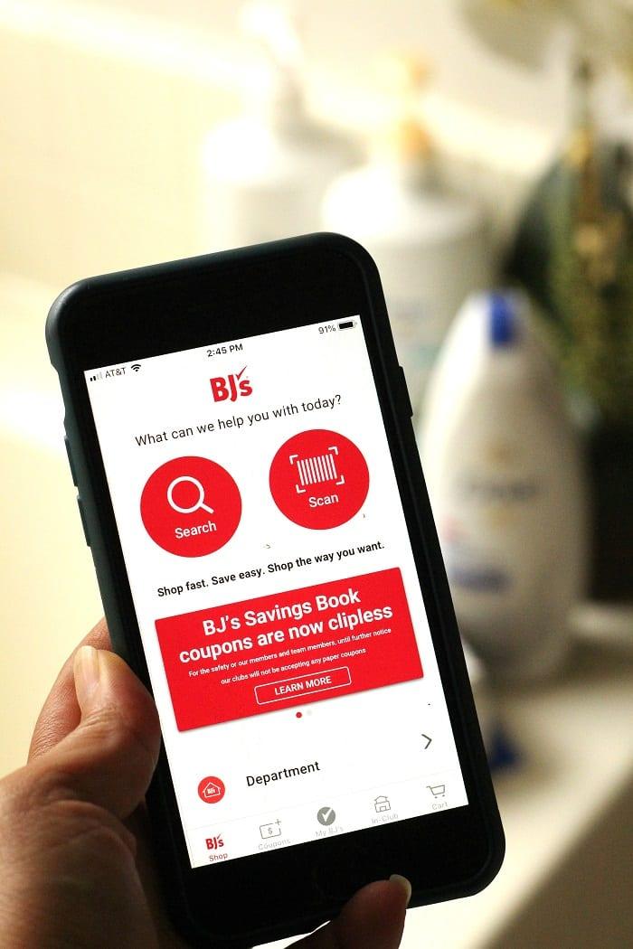 BJs wholesale app savings